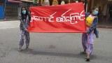 မန္တလေးမြတောင်သပိတ်မှာ အမျိုးသမီးတစ်ဦးပစ်သတ်ခံရပြီး ငါးဦးအဖမ်းခံရ