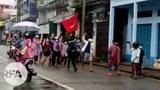 ထားဝယ်မြို့မှာ စစ်အာဏာရှင်ဆန့်ကျင်ရေး ၂၀၂၁ ဇွန် ၁၀ ရက်နေ့က ဆန္ဒပြခဲ့ကြစဉ်