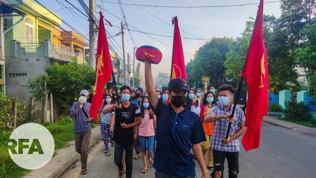 ထားဝယ်မြို့က စစ်အာဏာရှင်ဆန့်ကျင်ရေး သပိတ်စစ်ကြောင်း