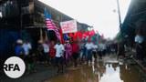 ဖားကန့်မြို့နယ် တာမခန်မြို့သစ်မှာ ၂၀၂၁ မေ ၁၁ ရက်နေ့က စစ်အာဏာရှင်ဆန့်ကျင်ရေး ဆန္ဒပြခဲ့ကြစဉ်