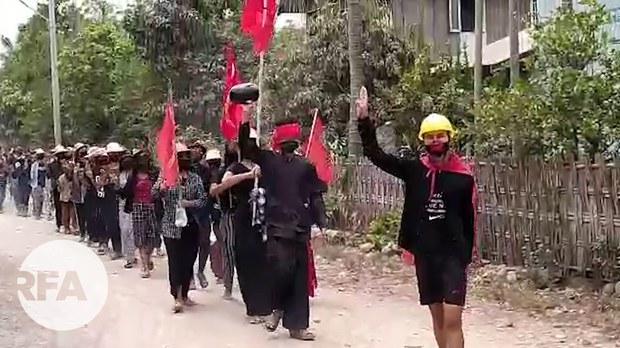 ကလေးမြို့ တောင်ပိုင်းကျေးရွာတွေက ဝမ်းနည်းခြင်းသပိတ်