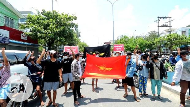 မန္တလေးမြို့က မဟာမိတ်တပ်ပေါင်းစု သပိတ်စစ်ကြောင်း