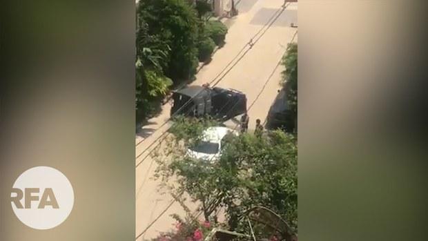 အိမ်စီးကားပေါ်ကလူကို စစ်ကောင်စီတပ် ဖမ်းသွား