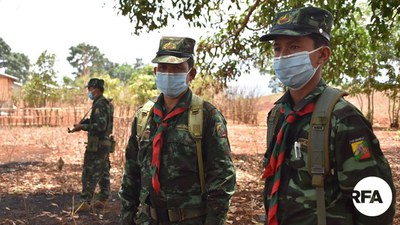 ရှမ်းပြည်ပြန်လည်ထူထောင်ရေးကောင်စီ RCSS  တပ်ဖွဲ့ဝင်များကို တွေ့ရစဉ်