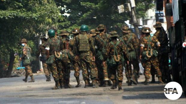 စလင်းမြို့နယ်ထဲက ရွာတချို့ကို စစ်ကောင်စီတပ်တွေ ဝင်ရောက်စီးနင်းနေ