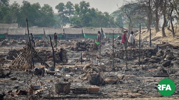 မီးလောင်ခံခဲ့ရတဲ့ တိမ်ညိုဒုက္ခသည်စခန်း ပြန်ဆောက်ဖို့ ပြင်ဆင်
