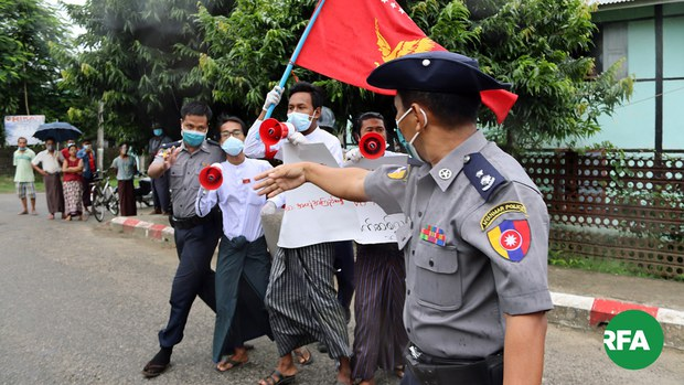 ရခိုင်မှာ ဆန္ဒပြလို့ အမှုရင်ဆိုင်နေရတဲ့ ကျောင်းသား သုံးဦး ငွေဒဏ်ချမှတ်ခံရ