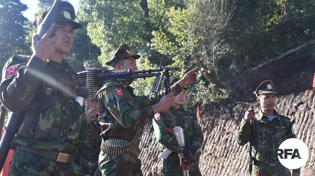 မန်ပြိန်းရွာအနီး စစ်ကောင်စီနဲ့ TNLA တို့တိုက်ပွဲဖြစ်