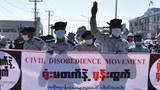 မြန်မာပြည်က CDM ခေါ် အာဏာဖီဆန်ရေးဝန်ထမ်းလှုပ်ရှားမှုတခု။