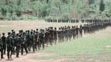 ဇူလိုင်လ ၆ ရက်နေ့က PDF တောင်ပိုင်းတိုင်းစစ်ဌာနချုပ် စစ်သင်တန်း အပတ်စဉ် (၅) သင်တန်းဆင်းပွဲ မြင်ကွင်း။