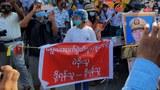ရွေးကောက်ပွဲကော်မရှင်ကို ဆန့်ကျင်ပြီး တပ်မတော်ကို ထောက်ခံကြောင်း ဆန္ဒပြ