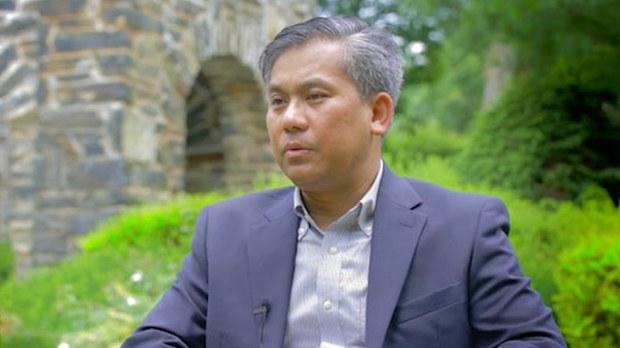 ကုလသမဂ္ဂဆိုင်ရာ မြန်မာသံအမတ် ဦးကျော်မိုးထွန်းနဲ့ RFA ဇူလိုင်လအစောပိုင်းက တွေ့ဆုံမေးမြန်းခဲ့စဉ်။