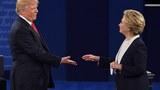 2016年美国总统大选候选人特朗普(左)与希拉里(右)。(法新社图)