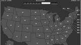 2016美国总统大选美国地图(美国之音粤语图)