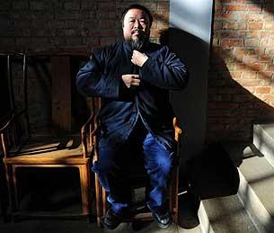 2008年1月29日,艾未未在北京的家中。(法新社)