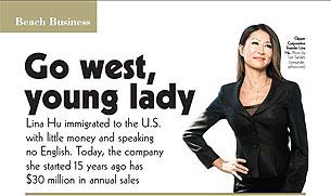2009年11月的 BEACH BUSINESS 刊登了有關胡琳創業經歷的報導。(圖片來自Clippercorp.com)