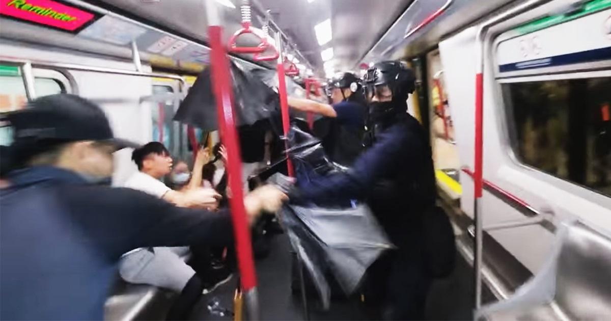 8.31事件事隔兩年仍未有市民能向警方索償。(《米報》 / 梁柏堅影片截圖)