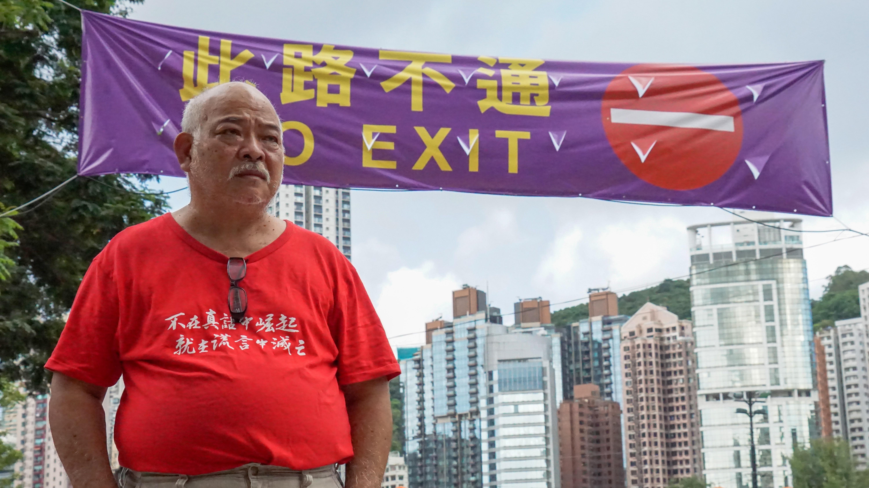 曾健成(阿牛)加入工聯會時仍為工程判頭,但他為了下一代決定全職投入從政,惟目前支持解散支聯會。(陳潤南攝)