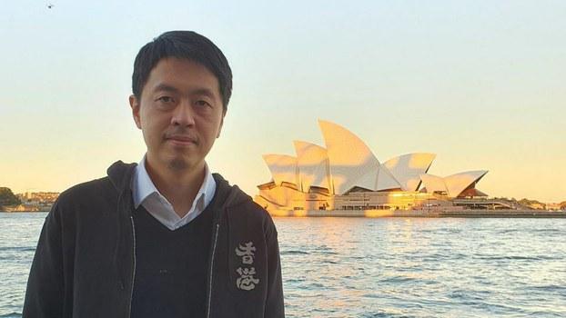 今年3月,许智峯宣布流亡澳洲。(受访者提供)