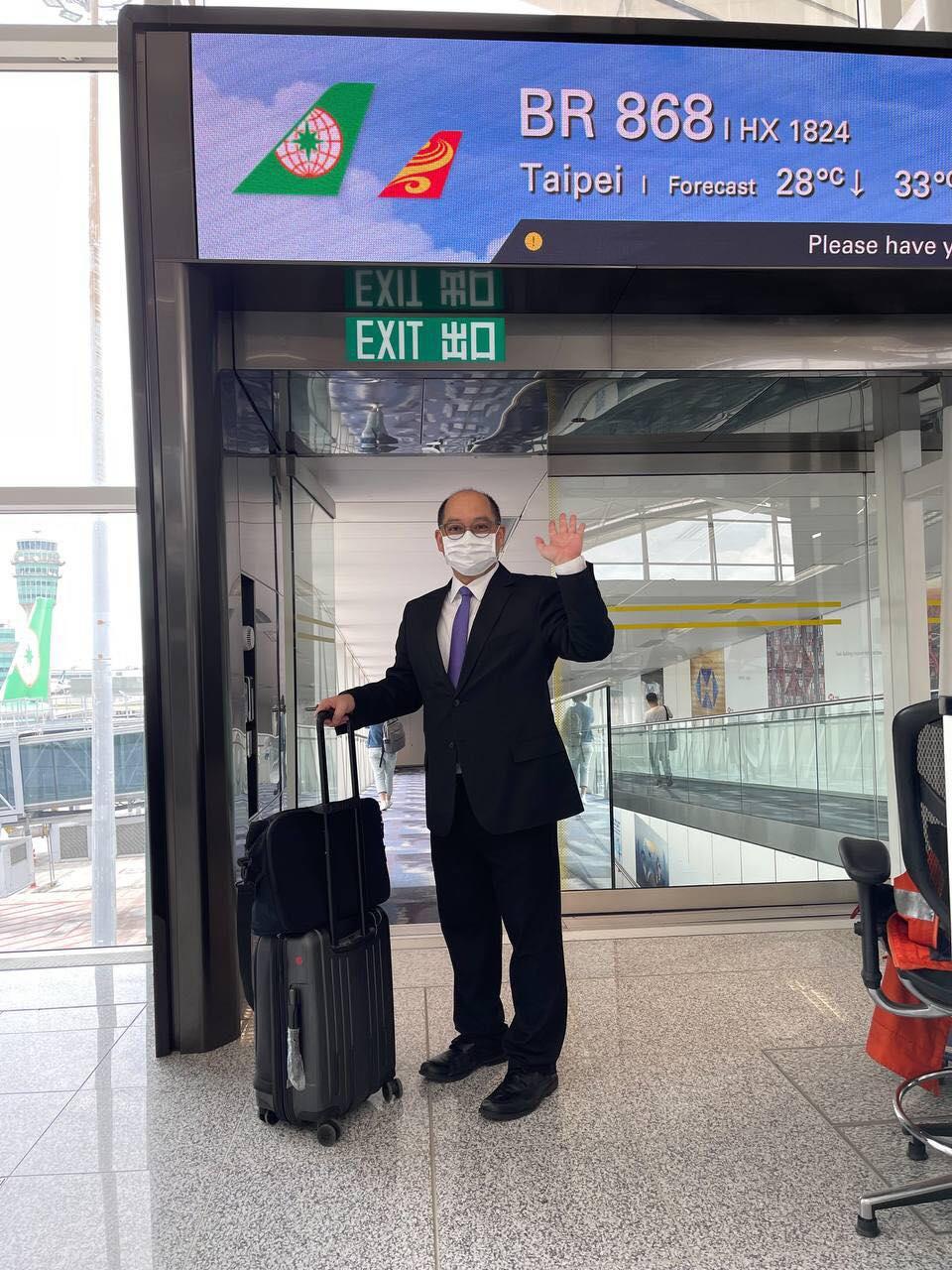 台灣陸委會公布最後一名台北辦台灣駐港官員、經濟組組長倪伯嘉於7月31日回台。(陸委會圖片)