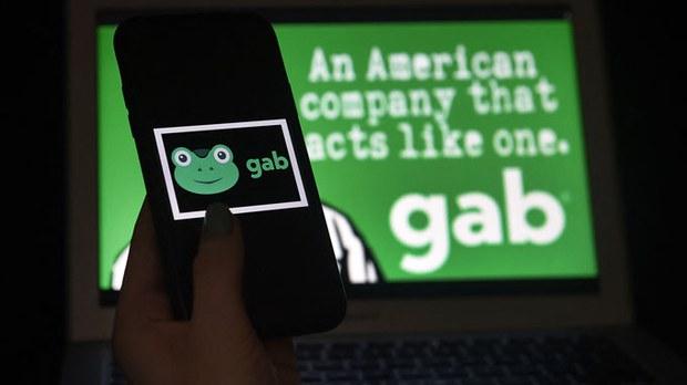受美國保守派歡迎的社媒Gab,其CEO在2021年3月1日表示,平台受黑客攻擊。(法新社資料圖片)