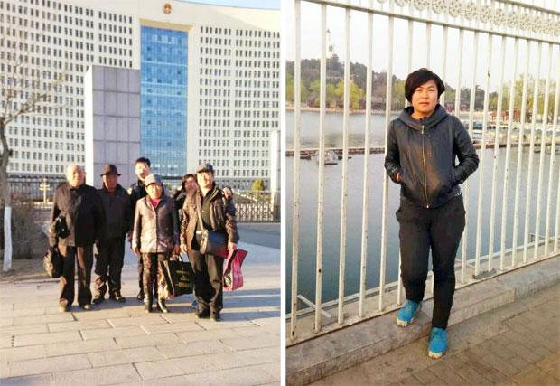 内蒙古乌拉特中旗牧民因草场被强占开矿,3月初到当地政府上访没结果。其中乌兰其其格(右图)3月29日被送返内蒙后,扣查23小时释放。(照片来自南蒙古人权信息中心)