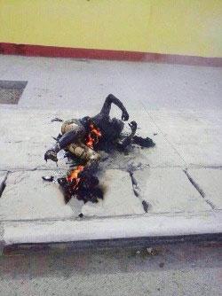 才白12月22日在鄉鎮街道自焚身亡。(照片來自西藏人權民主促進中心)