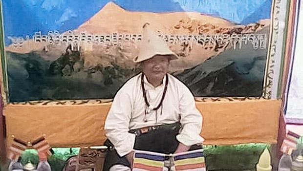 四川色达县藏人雪儿次嘉,2014年8月12日刑满被秘密送返亚龙乡。(照片来自藏人行政中央网站)