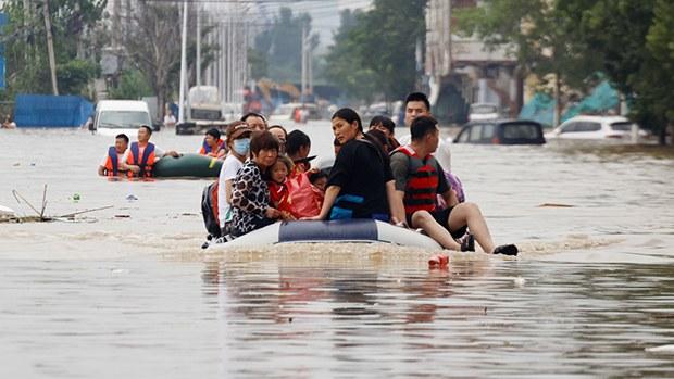 河南千年一遇洪災罹難者增至63人 5人失蹤過百萬人受災