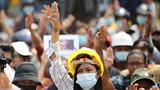 缅甸工会号召全国大罢工。