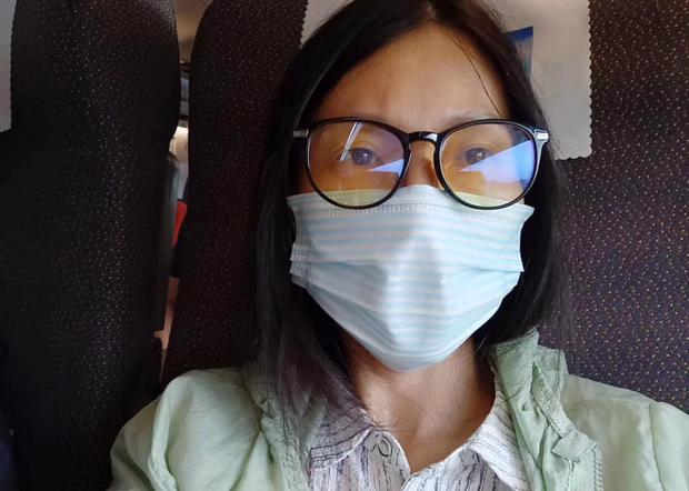2020年8月12日,刘进兴的妻子刘立姣赶赴南京准备旁听庭审,但遭国保维稳。(知情人提供)