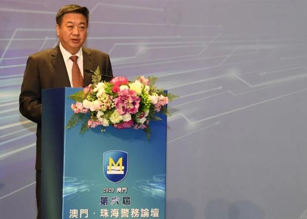 广东省公安厅厅长李春生,号召下属要「能力大案、要案」。(珠海公安局官网图片 / 拍摄日期不详)