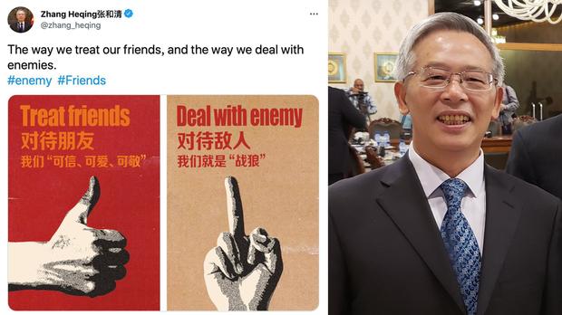 【戰狼外交】中國駐巴外交官發布豎中指照:分析指以粗鄙戰狼言論以圖升遷