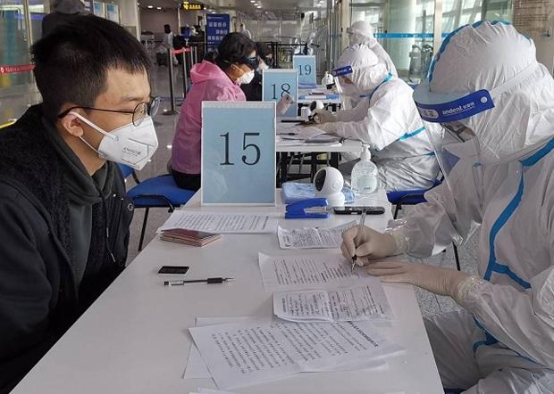 中國官方嚴防海外僑民和留學生回國導致疫情二次爆發。(中國海關總署官方發布 / 拍攝日期不詳)