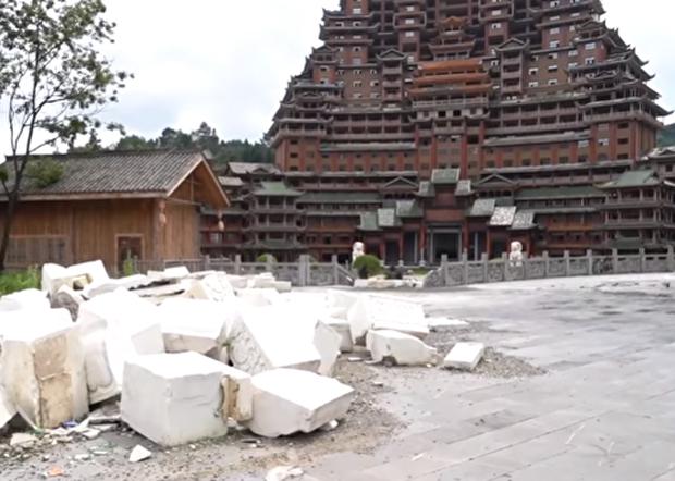 貴州爛尾樓都被視為陳敏爾擔任貴州省委書記時的「蘇州屎」。(網絡視頻截圖)