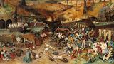 圖為中世紀瘟疫地獄圖像。