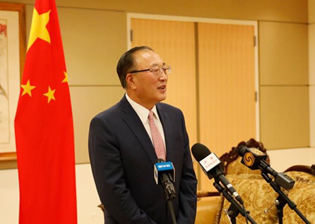 2020年10月5日,中國常駐聯合國代表張軍指美國等西方國家侵犯人權,稱這些國家對中國人權問題的關切是「干預中國內政和抹黑行為」。(中國外交部常駐聯合國代表官網圖片)