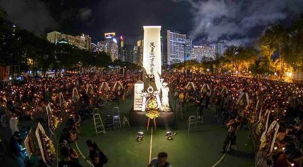 2018年6月4日,有團體表示每年的燭光晚會都能凝聚大家的力量,是繼續傳承六四事件中遇難者追求民主的精神。(社民連照片)