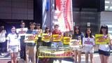學民思潮反對政改方案的街頭宣傳。(學民思潮臉書)