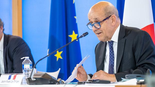 法國外長勒德里昂(Jean-Yves Le Drian)就香港國安法表態不能坐視不理,將協調歐盟推出反制措施。(勒德里昂推特圖片)