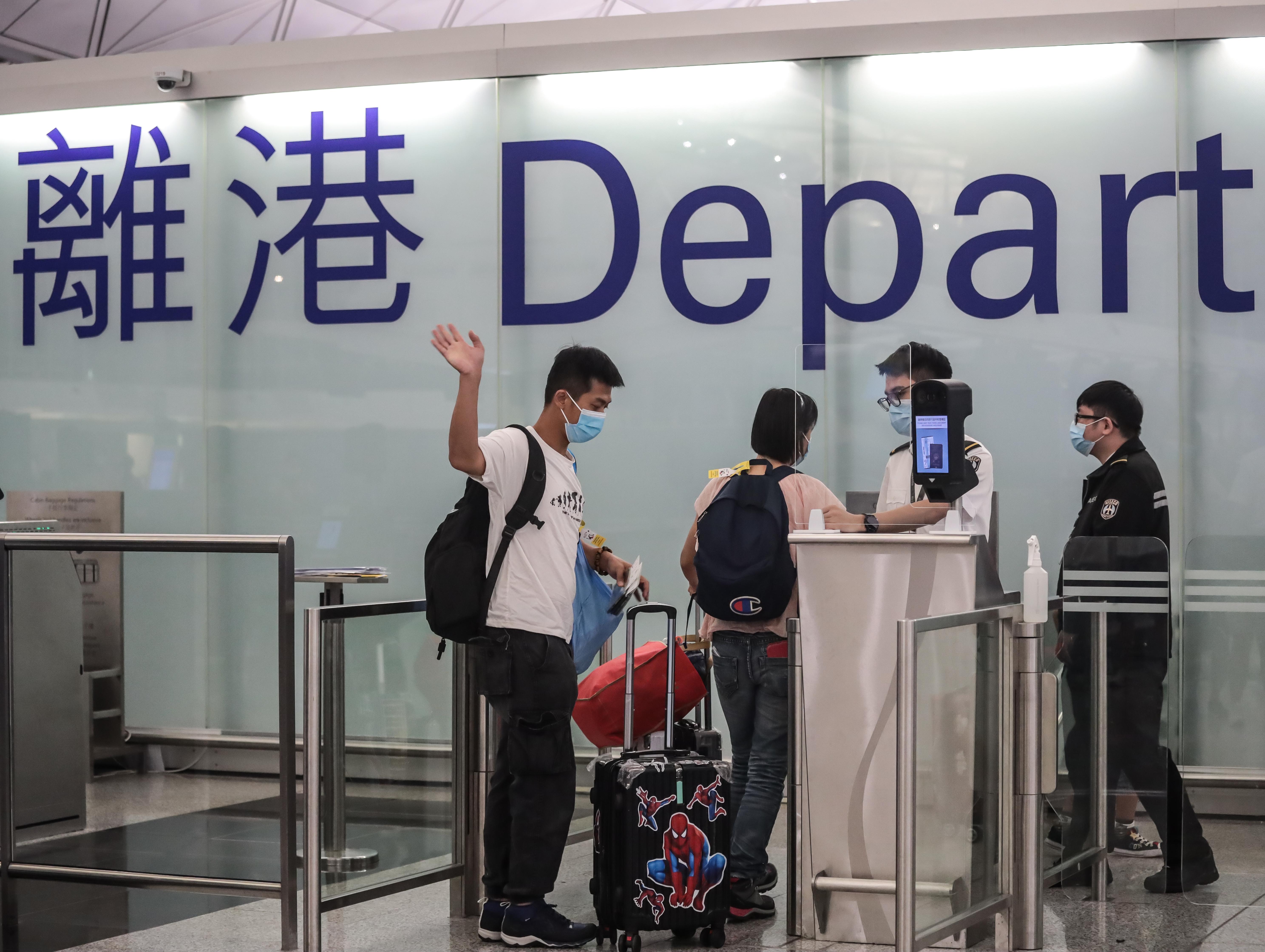 再见了,香港。(张展豪 摄)