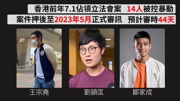 【七一佔領立會案】王宗堯等14人提訊 案件2023年審理