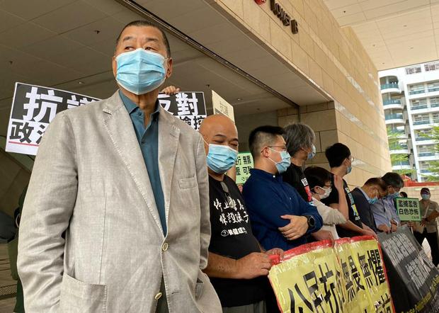 2020年9月18日,壹传媒创办人黎智英到法院出席聆讯。(刘少风 摄)