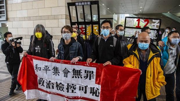 梁国雄等八人被控7.1「非法游行」 准保释但禁离港