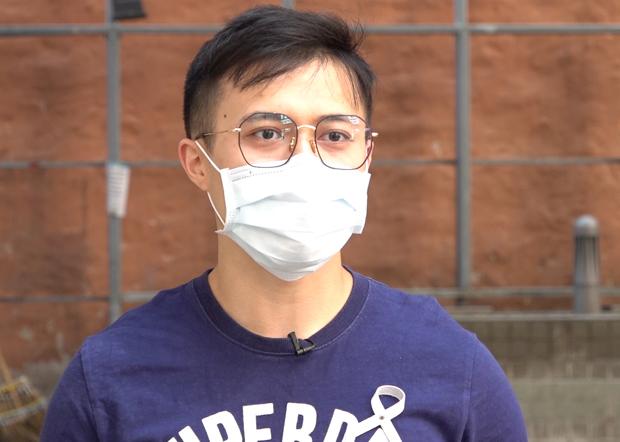 2020年2月26日,香港医管局员工阵线副主席罗卓尧认为,政府在新一份预算案中的医疗措施只是小修小补。(张展豪摄)
