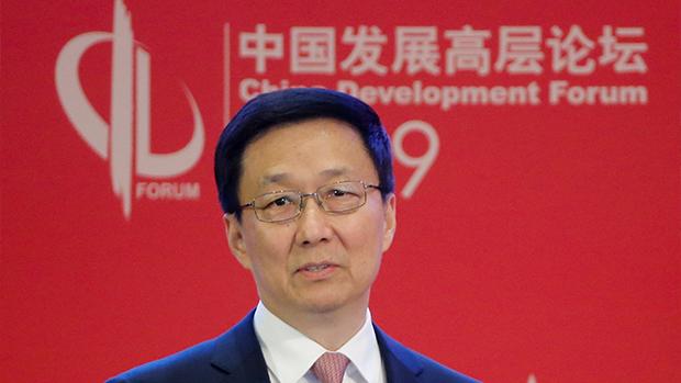 韩正表示,北京「深入论证」及研究香港国安法及「完善」选举制度。