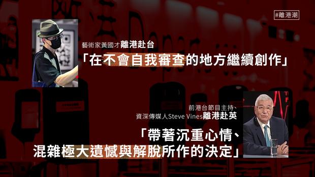 【移民潮】资深传媒人Steve Vines 、艺术家黄国才离港