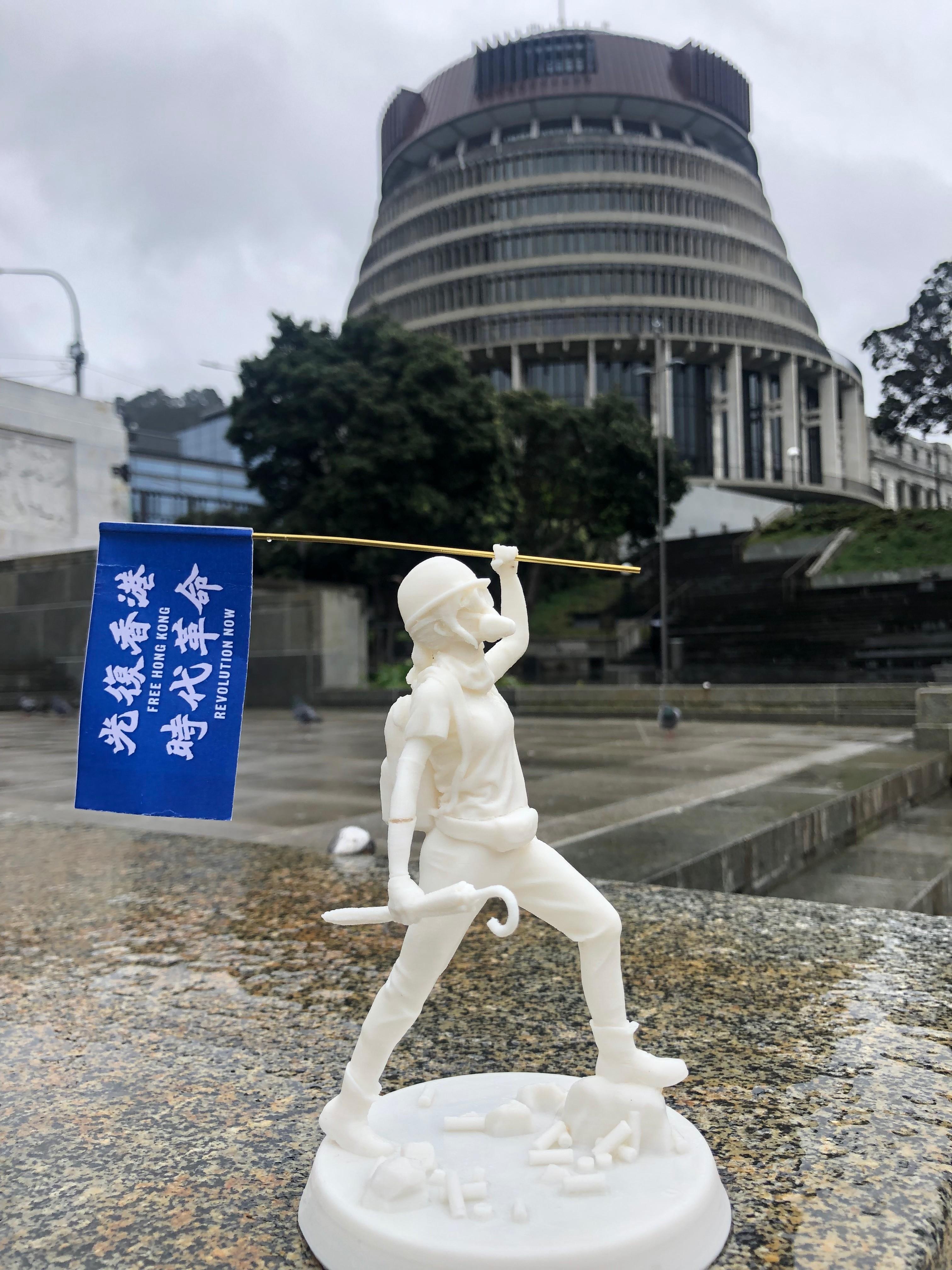 香港自由女神像相片为藏品之一。(纽西兰国家博物馆提供)