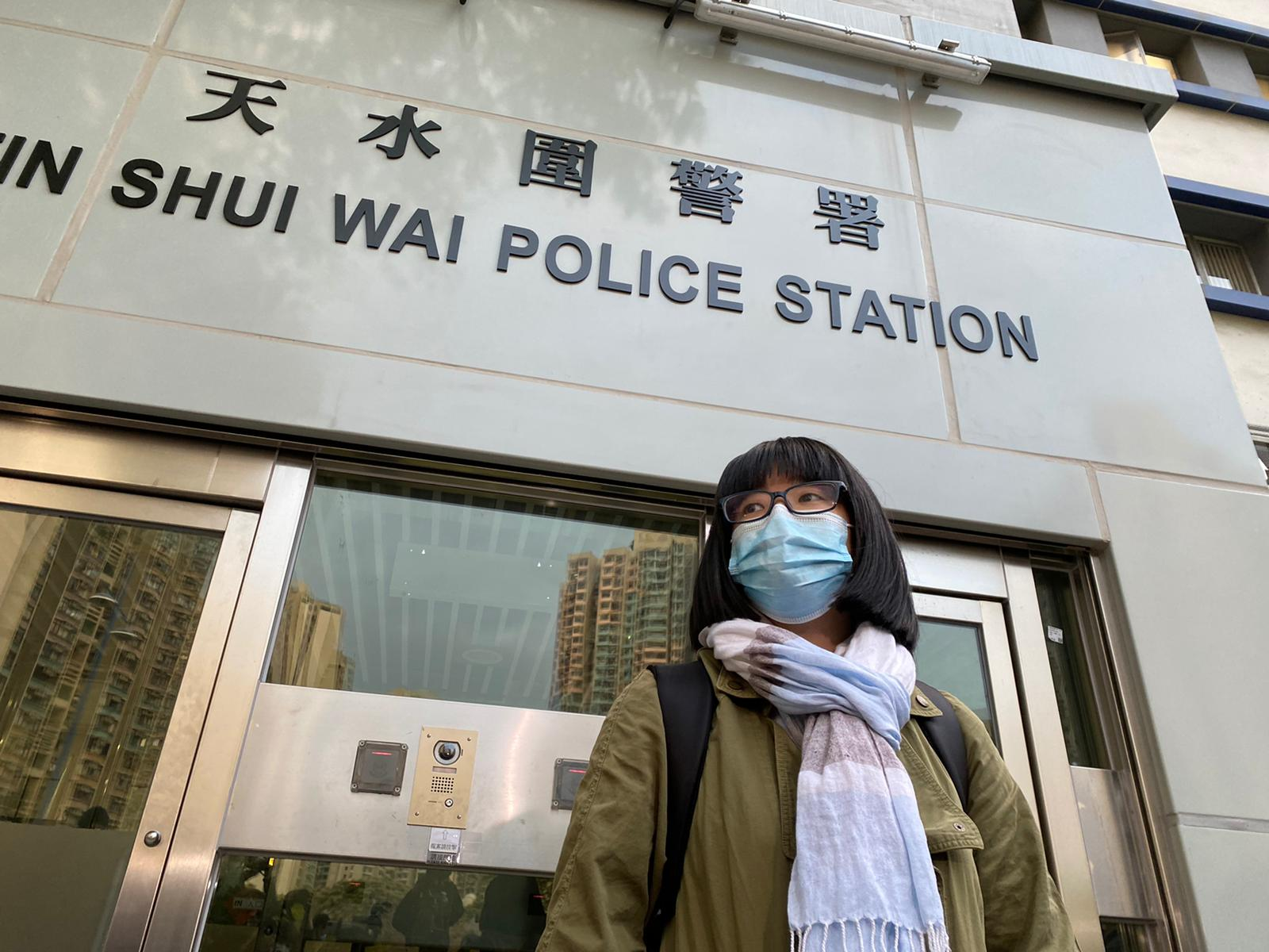 「12港人关注组」成员、大律师邹幸彤:对港警整日的遣返安排「深感失望」。(刘少风摄)