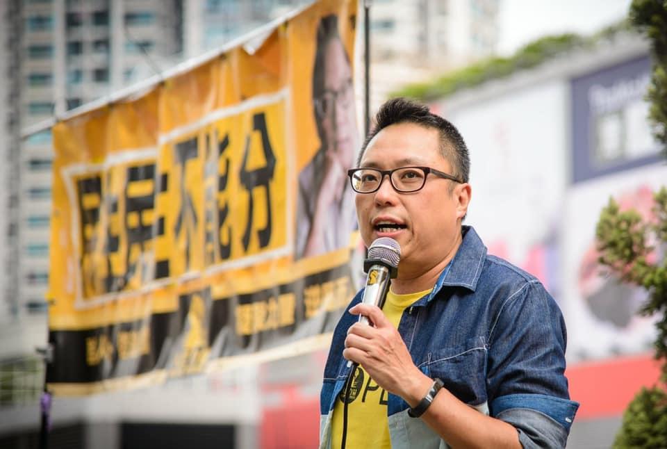 譚得志(48歲)被控7項發表煽動文字、1項串謀發表煽動文字、1項煽惑他人明知而參與未經批准集結等,共14罪。(譚得志Facebook / 拍攝日期不詳)